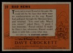 1956 Topps Davy Crockett #59 ORG  Bad News  Back Thumbnail