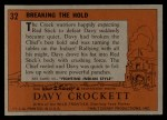1956 Topps Davy Crockett #32 ORG  Breaking the Hold  Back Thumbnail