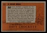 1956 Topps Davy Crockett #53 ORG Near Miss   Back Thumbnail