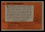 1956 Topps Davy Crockett #58 ORG  Night Bombardment  Back Thumbnail
