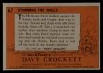 1956 Topps Davy Crockett #67 ORG Storming The Walls   -     Back Thumbnail