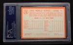 1964 Topps #136  1963 World Series - Game #1 - Koufax Strikes Out 15   -  Sandy Koufax Back Thumbnail