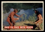 1956 Topps Davy Crockett #29 ORG Face to Face with Death   Front Thumbnail