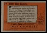 1956 Topps Davy Crockett #72 ORG Every Shot Counts   Back Thumbnail