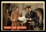 1956 Topps Davy Crockett #65 ORG Plans For Defense   Front Thumbnail