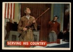 1956 Topps Davy Crockett #42 ORG Serving His Country   Front Thumbnail