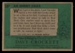 1956 Topps Davy Crockett #28 GRN An Enemy Falls   Back Thumbnail