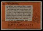 1956 Topps Davy Crockett #31 ORG Fists Flying   Back Thumbnail
