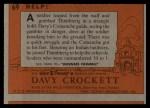 1956 Topps Davy Crockett #69 ORG Help!   Back Thumbnail