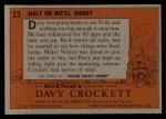 1956 Topps Davy Crockett #23 ORG Halt or We'll Shoot   Back Thumbnail