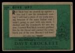 1956 Topps Davy Crockett #32 GRN Give Up?   Back Thumbnail