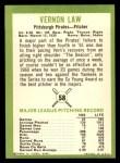 1963 Fleer #58   Vern Law Back Thumbnail