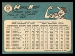1965 Topps #544   Howie Reed Back Thumbnail