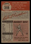 1953 Topps #218   Les Fusselman Back Thumbnail