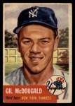 1953 Topps #43   Gil McDougald Front Thumbnail