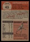 1953 Topps #45  Grady Hatton  Back Thumbnail
