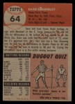 1953 Topps #64   Dave Philley Back Thumbnail
