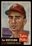 1953 Topps #136   Ken Heintzelman Front Thumbnail