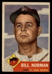 1953 Topps #245  Bill Norman  Front Thumbnail