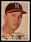 1957 Topps #250  Eddie Mathews  Front Thumbnail