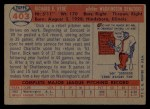 1957 Topps #403   Dick Hyde Back Thumbnail