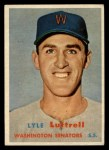 1957 Topps #386  Lyle Luttrell  Front Thumbnail