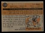 1960 Topps #144  Rookie Stars  -  Al Stieglitz Back Thumbnail