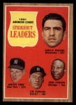 1962 Topps #59  AL Strikeout Leaders  -  Camilo Pascual / Whitey Ford / Jim Bunning / Juan Pizarro Front Thumbnail