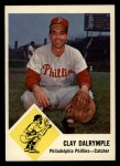 1963 Fleer #52  Clay Dalrymple  Front Thumbnail