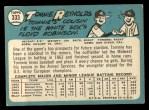 1965 Topps #333   Tom Reynolds Back Thumbnail
