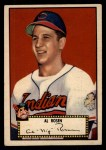 1952 Topps #10 RED Al Rosen  Front Thumbnail