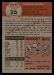 1953 Topps #26   Dale Mitchell Back Thumbnail