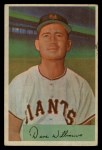 1954 Bowman #9  Davey Williams  Front Thumbnail