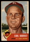 1953 Topps #65  Earl Harrist  Front Thumbnail