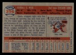 1957 Topps #396   Casey Wise Back Thumbnail