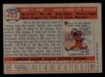 1957 Topps #402   Jim Pisoni Back Thumbnail
