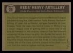 1961 Topps #25   -  Vada Pinson / Gus Bell / Frank Robinson Reds Heavy Artillery Back Thumbnail