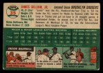1954 Topps #35   Jim Gilliam Back Thumbnail