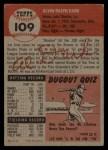 1953 Topps #109   Al Dark Back Thumbnail