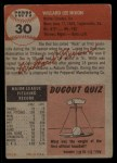 1953 Topps #30  Willard Nixon  Back Thumbnail