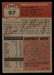 1953 Topps #97  Don Kolloway  Back Thumbnail