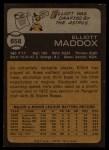 1973 Topps #658  Elliott Maddox  Back Thumbnail