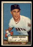 1952 Topps #265  Chuck Diering  Front Thumbnail