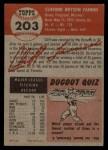 1953 Topps #203   Cliff Fannin Back Thumbnail