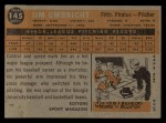 1960 Topps #145  Rookie Stars  -  Jim Umbricht Back Thumbnail