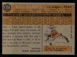 1960 Topps #128  Rookie Stars  -  Bill Harris Back Thumbnail