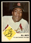 1963 Fleer #63  Bill White  Front Thumbnail