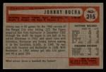 1954 Bowman #215   Johnny Bucha Back Thumbnail