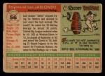 1955 Topps #56 COR  Ray Jablonski Back Thumbnail