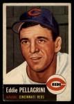 1953 Topps #28   Eddie Pellagrini Front Thumbnail